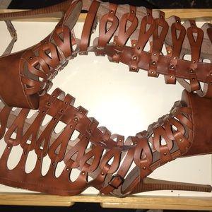 Ziti girl knee length heels. Never worn